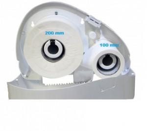 Jumbo stub roll dispenser