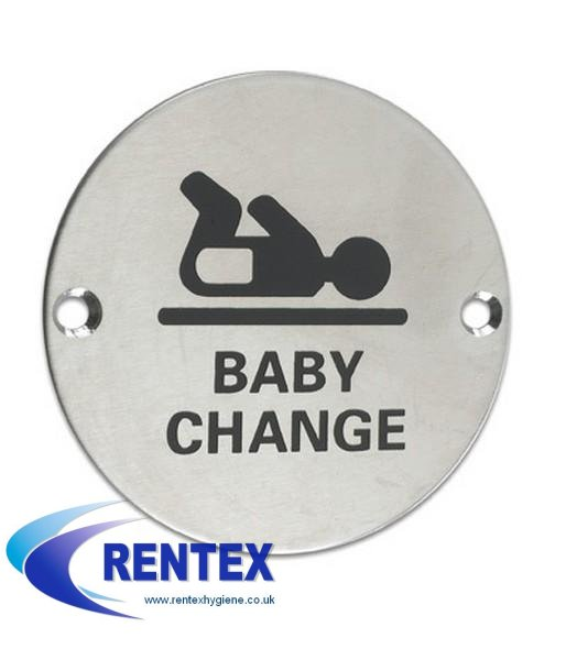 Washroom Door Sign Baby Change