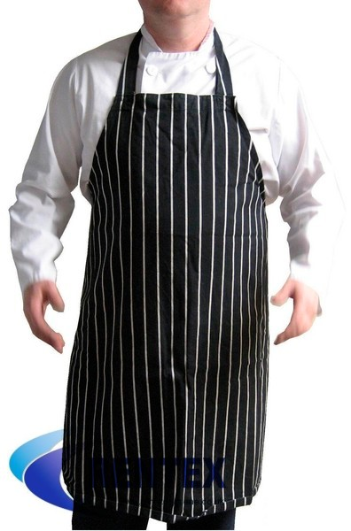 Bib Apron Blue Stripe
