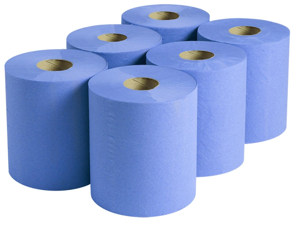 Centrefeed Wiper Rolls 2ply Blue