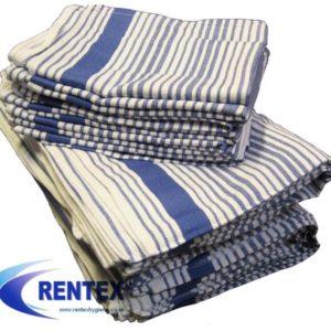 Tea Towels Premium Blue Stripe 1 X 10