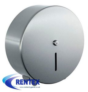 Mini Jumbo Toilet Roll Dispenser Steel
