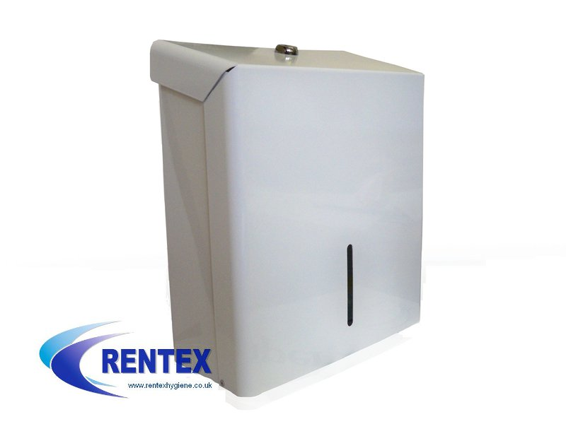 Paper Hand Towel Dispenser White Enamelled Steel