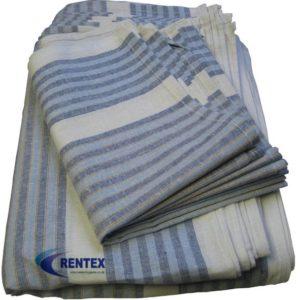Tea Towels Blue Stripe 1 X 10