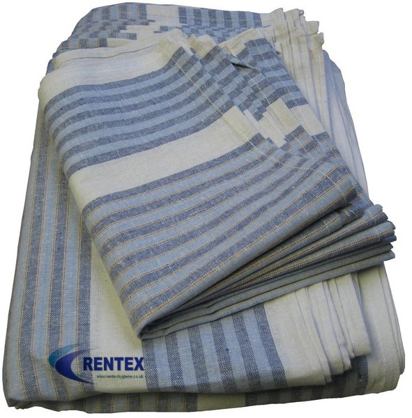 Tea Towels Blue Stripe 1 X 10