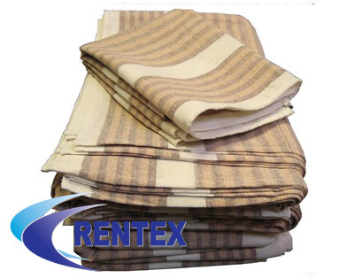 tea towel brown stripe