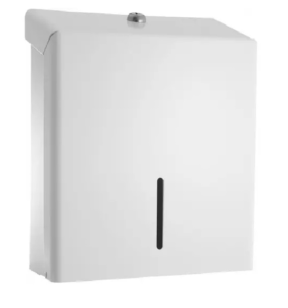 Paper Hand Towel Dispenser White Enameled Steel