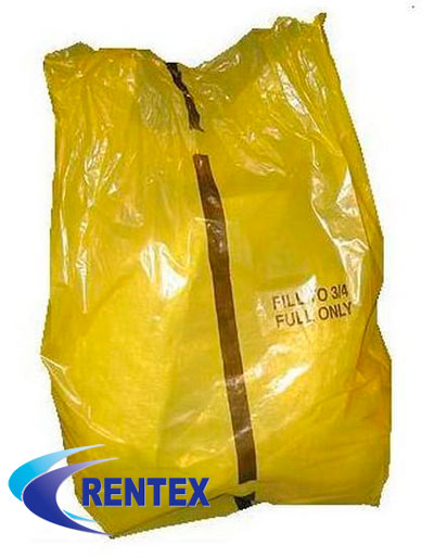 Yellow Offensive Waste Bags