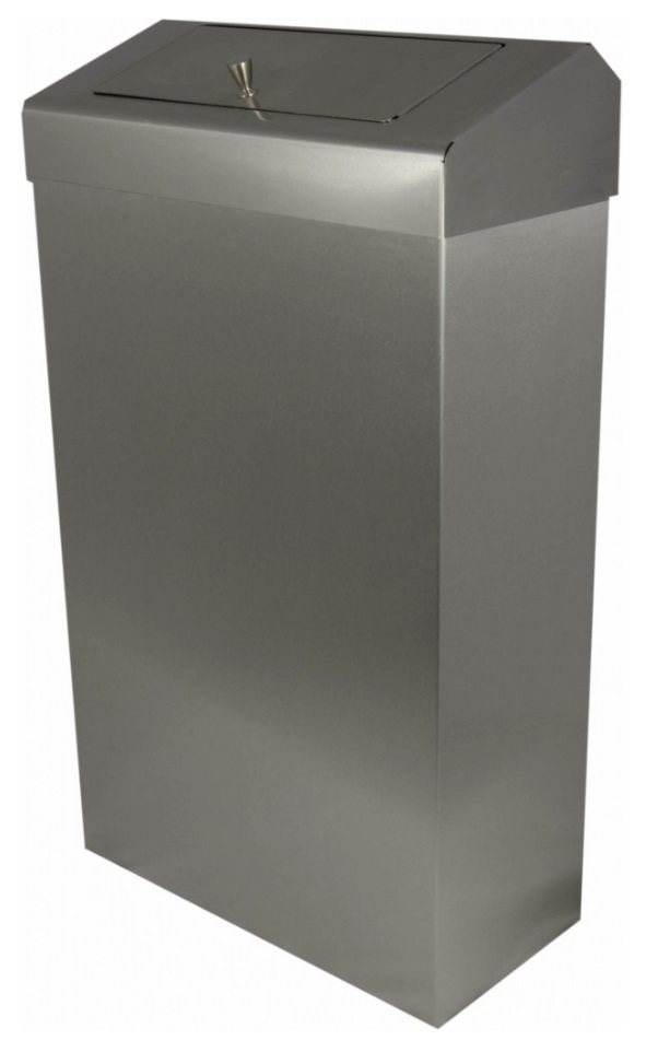 Brushed Steel Sanitary Bin