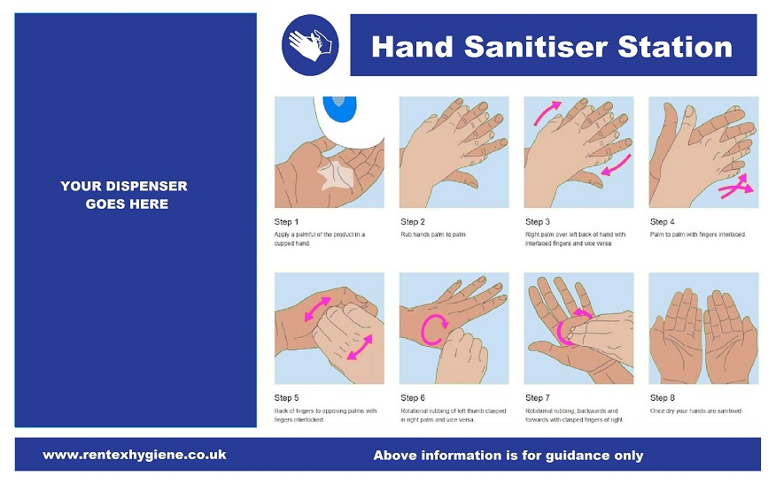 hand sanitiser dispenser board