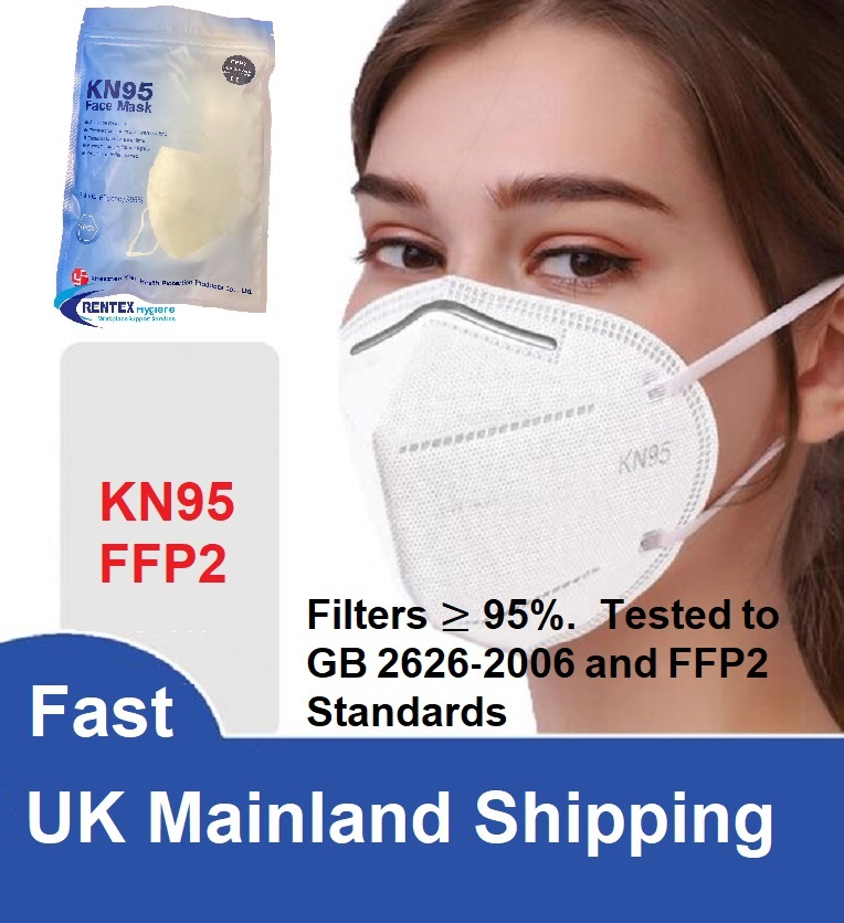 KN95 Face Mask CE1282 EN149 – Pack Of 20