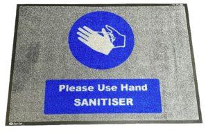 Hand Sanitiser Logo Mat