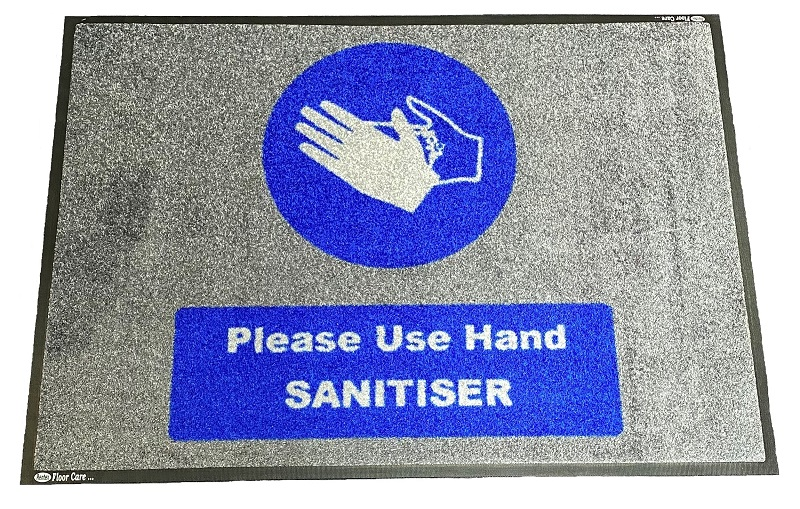 Hand Sanitiser Dispenser Station Mat 85cm X 60cm