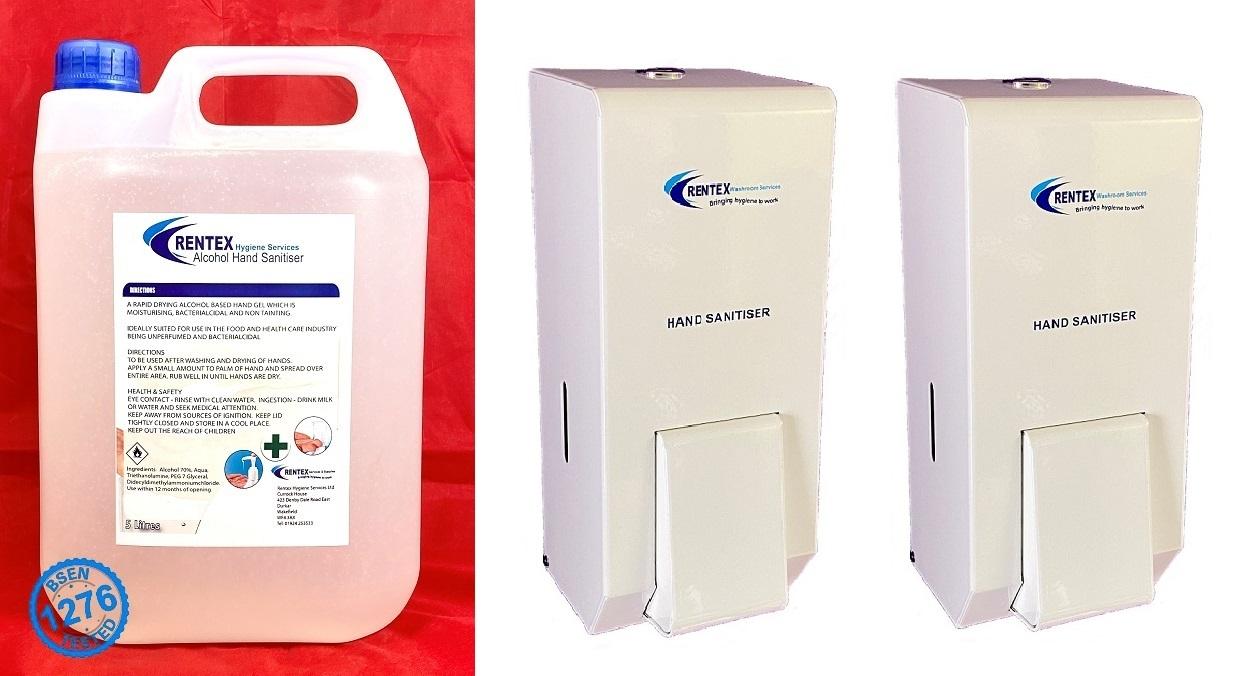 Metal Hand Sanitiser Dispensers MD2