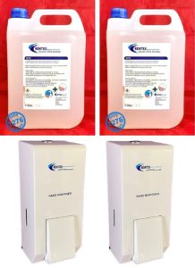 metal hand sanitiser dispensers