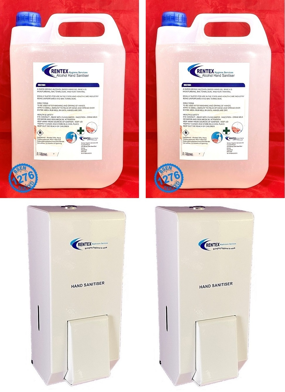 Metal Hand Sanitiser Dispensers MD2