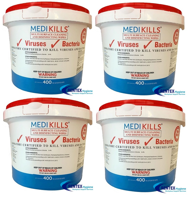 Medi Kills Sanitiser Surface Wipes 1600
