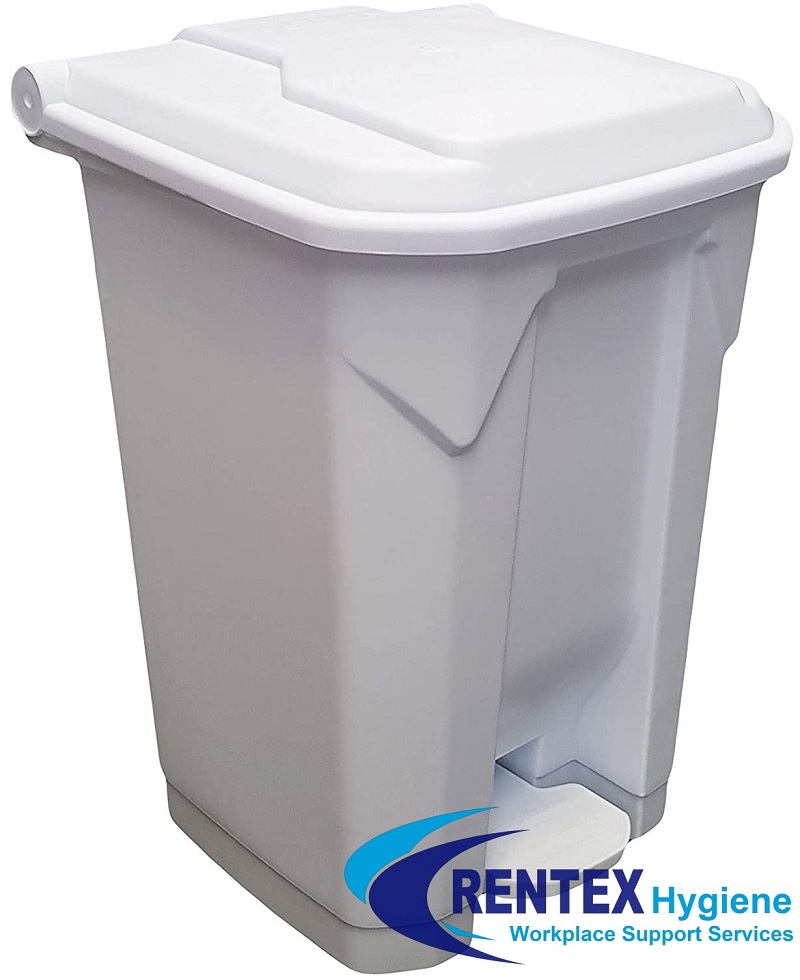 Large Pedal Operated Nappy Bin White